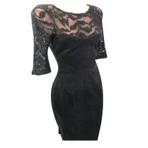 L'agence Black Velvet Silhouette Lace & Shimmer